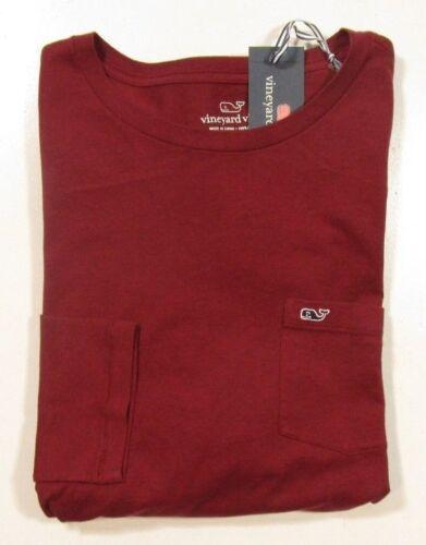 a Vines color maniche maniche cremisi Camicia da lunghe rossa lunghe Vineyard cremisi taschino a 4adEqw4F
