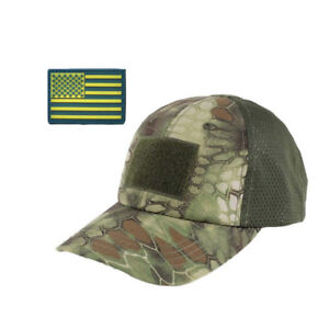 e9ea923858c Tactical Baseball Cap with American Flag Patch Trucker Army Operator ...