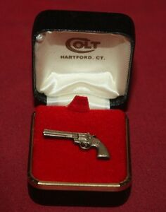 COLT-Firearms-Factory-Python-Tie-Tack-Silver-Plate-Mint