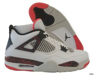 best website 4ddde 8f80d Image is loading 308497-116-Air-Jordan-4-Retro-White-Black-