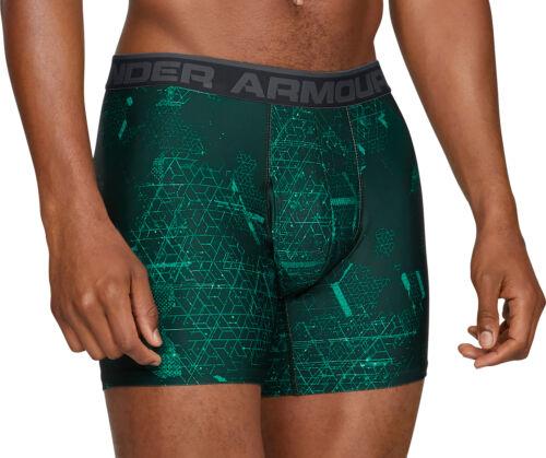 Under Armour Original Series Mens Boxer Short 2 Pack Printed Boxer Jock Green UA