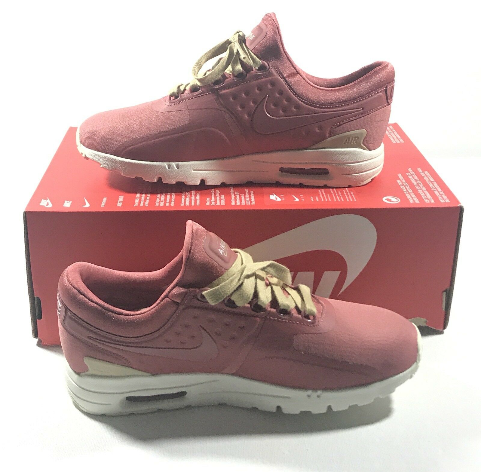 NIKE WOMENS AIR MAX ZERO CS CASUAL SHOES LIGHT REDWOOD AA3170-800 SIZE 8
