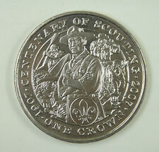 Isle Of Man Crown 2007 UNC, CENTENARY OF SCOUTING