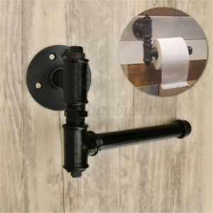 Industrial-Vintage-Toilet-Paper-Roll-Holder-Washroom-Bathroom-Wall-Mounted-US