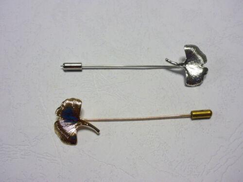 Maple Leaf Lapel Hat Pin Brooch Hijab Abaya Silver Gold Men/'s Or Women/'s Formal