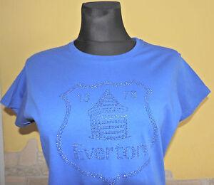 Everton-FC-Women-039-s-Blue-T-Shirt-Size-16