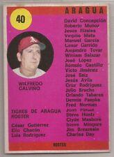 ROSTER #40 1970 VENEZUELAN SPORT GRAFICO TIGRES DE ARAGUA