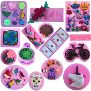Novel-Silicone-Cake-Mould-Mat-Fondant-Sugar-Chocolate-Craft-Mold-Decor-DIY-Tools