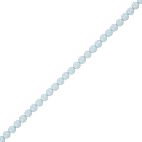 J67//3 4mm Swarovski Crystal Pearl Beads 5810 Pastel Blue colour Pack of 50