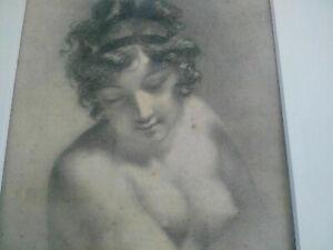 Rare-Prud-039-hon-superbe-gravure-1849-lithographie-Prudhon-Aubry-Lecomte-curiosa