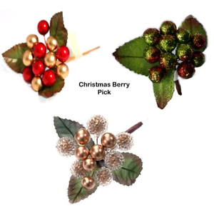 Clearance Christmas Decor.Details About Job Lot Clearance Pack Of 5 Christmas Berry Pick For Wreath Decoration