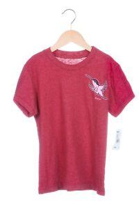 5698ee77b6 NWT RVCA Girls Tee Size Small Red Bird Print Short Sleeve Top T ...