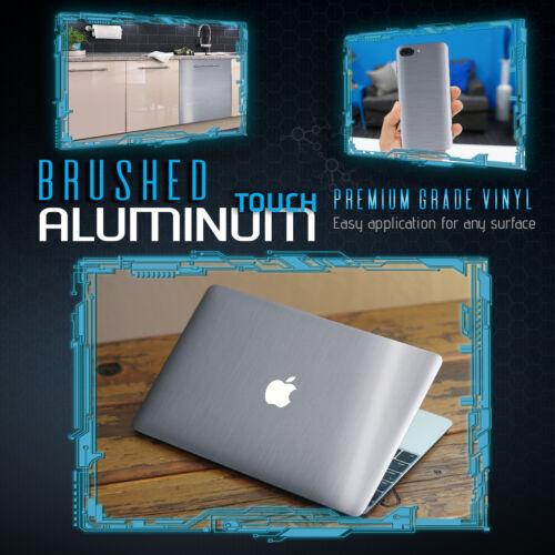 Brushed Aluminum Metallic Vinyl Film Wrap Sticker Decal Bubble Free Air Silver