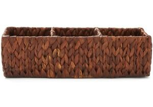 Americanflat Natural Rectangular Walnut Woven Seagrass Storage Basket - - Toilet