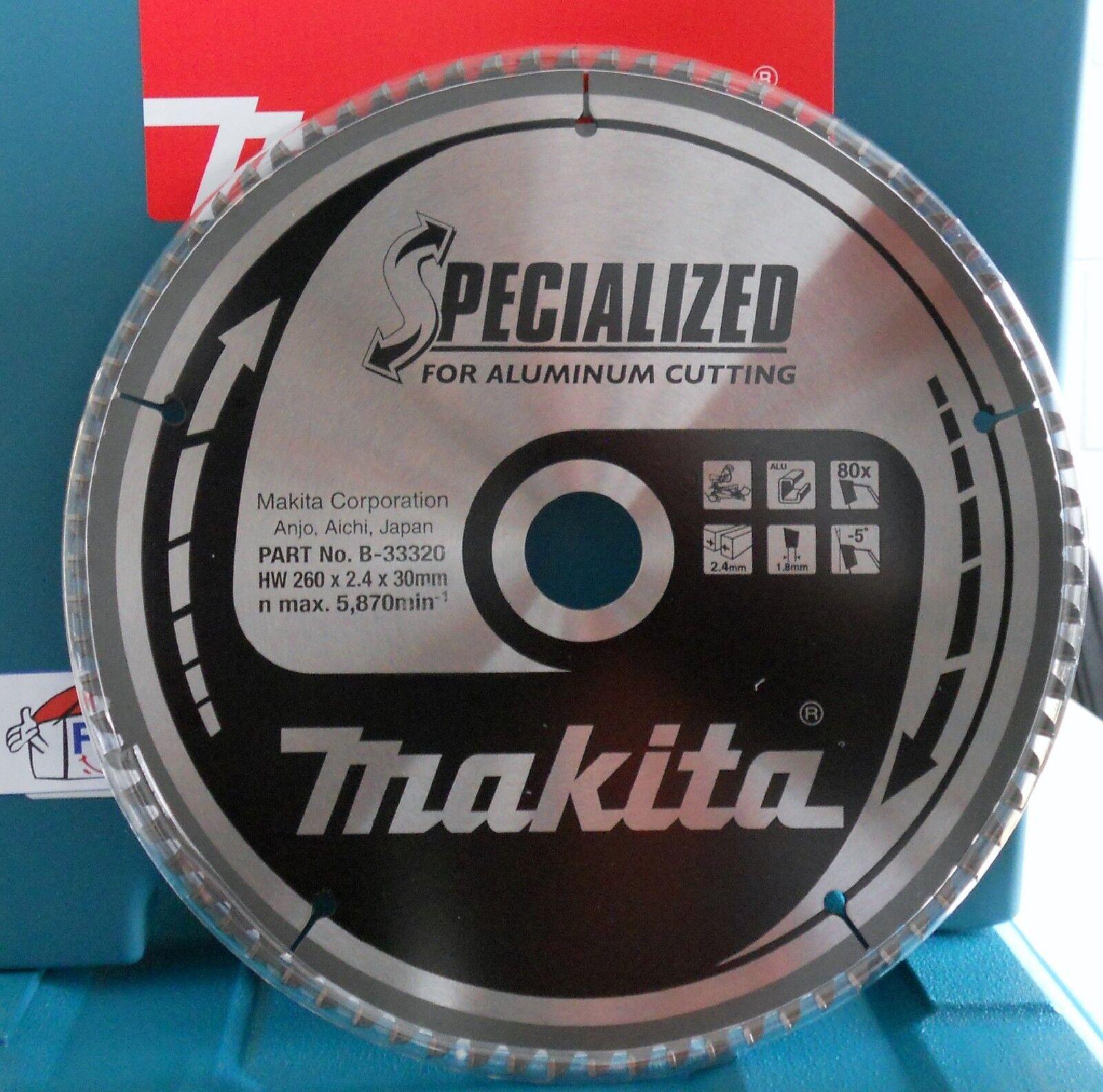Makita Sägeblatt SPECIALIZED 260x30mm B-33320 MSA26080G Spezial - Aluminium