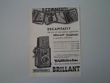 advertising Pubblicità 1934 VOIGTLANDER BRILLANT