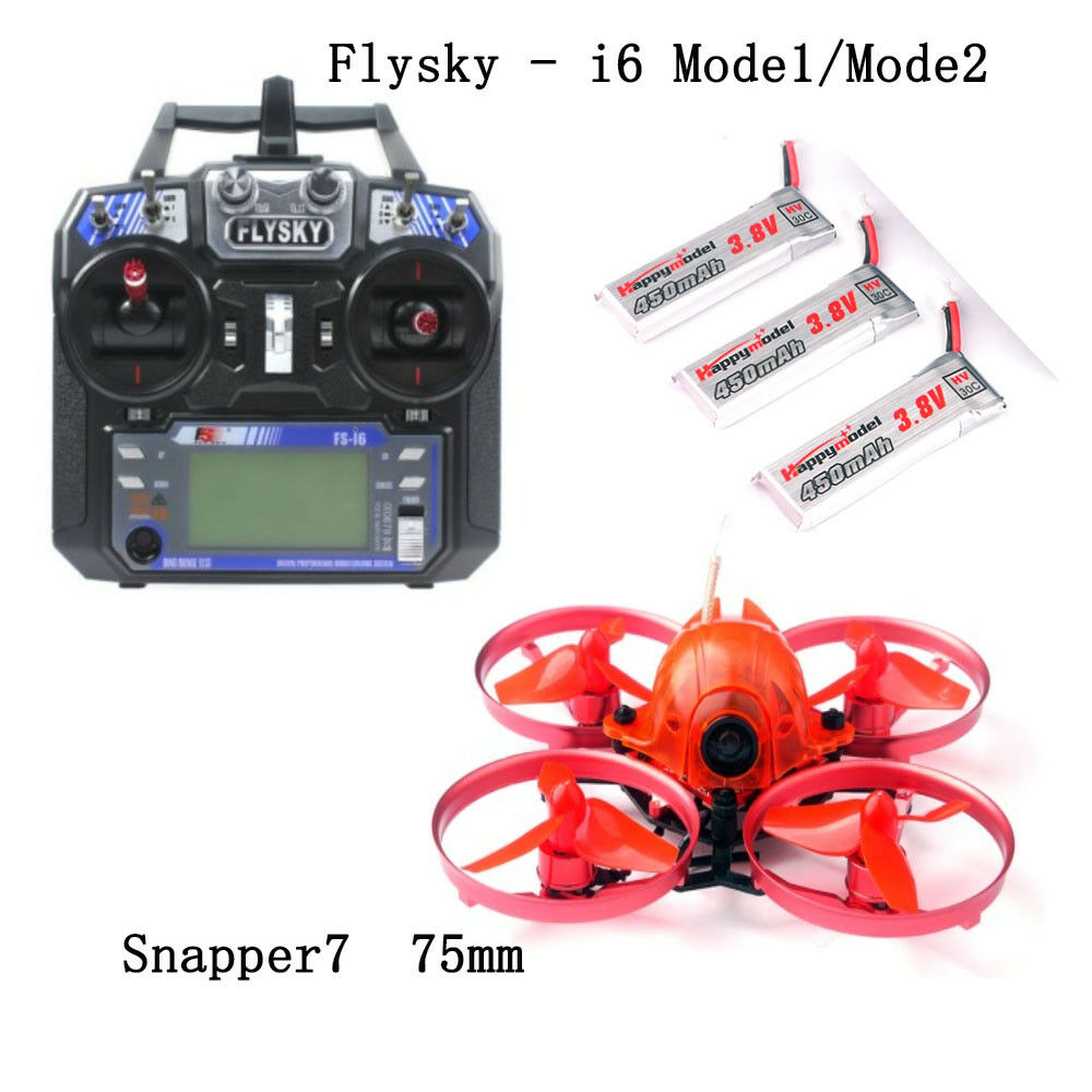Snapper7 Micro 75mm FPV Racer Racing Drone Quadcopter w   FS-i6 RC Transmitter  rivenditori online