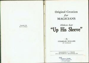 Charles-Waller-034-Up-His-Sleeve-Original-Creations-for-Magicians