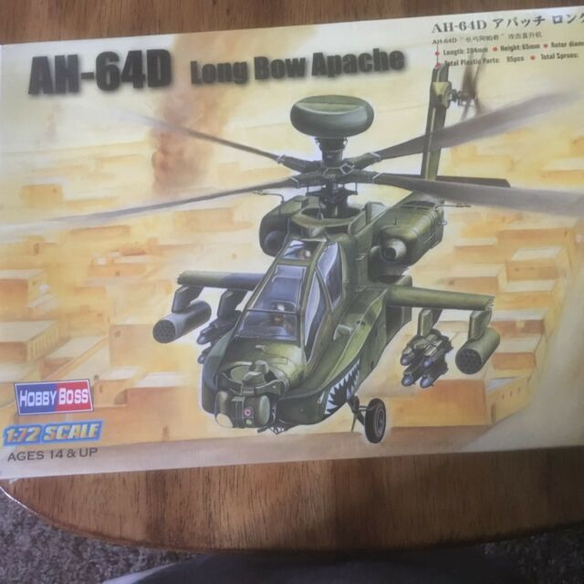 87219 HobbyBoss Boeing AH-64D Apache LONG BOW 1:72 MODEL KIT NEW SEALED IN CELLO