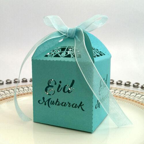 10pcs//set Happy Eid Mubarak Candy gift boxs ramadan decorations Islamic TB