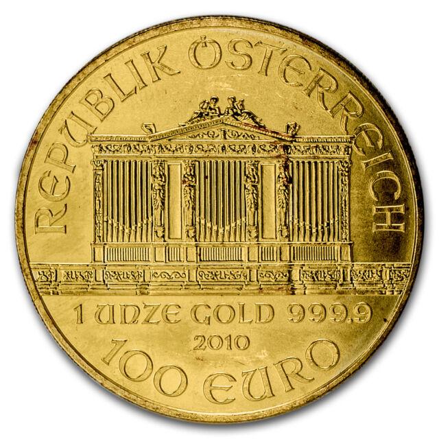 2010 Austria 1 oz Gold Philharmonic BU - SKU #56879