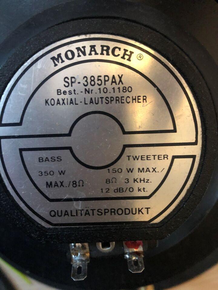 Højttaler, Andet mærke, monarch sp 385 pax