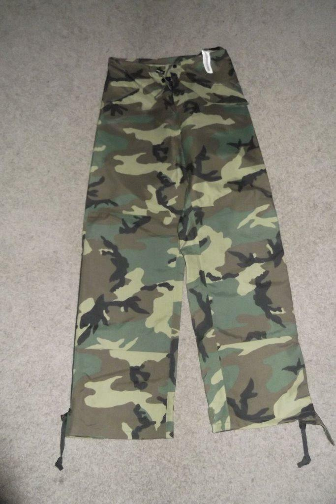 Military BDU XSmall Long Pants Camouflage Gore-Tex Cold Weather Trousers