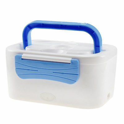 Portable 220V Electric Heated Lunch Box Food Warm Container Bento Box With Spoon