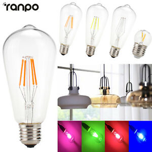 Plein-de-Couleurs-Vintage-Edison-E27-2w-4w-Led-Mais-Filament-Ampoule-Lampe-Decor