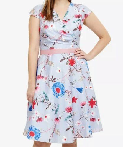 8 £ Uk Blue Eight Studio Cl15 Dress Rrp Millicent 150 Donna 18 multi Phase qz7BzRxwt