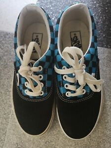 Vans Boys Stylish Blue Black Authentic Shoes Boots Trainers Uk Size 13 Sold Out Ebay