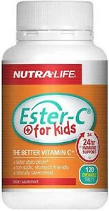 Details about Nutra - Life Ester C For Kids 100mg Chewable Tablets 120 - FREE SHIPPING