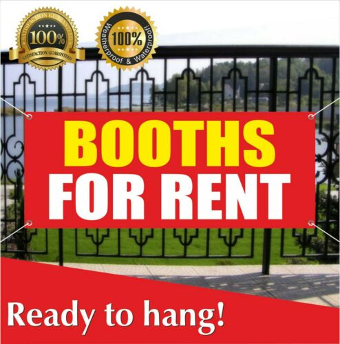 BOOTHS FOR RENT Banner Vinyl / Mesh Banner Sign Flag Rentals Lease Free Shipping