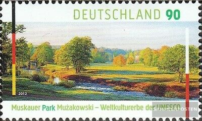 2944 Mint Never Hinged Mnh 2012 Unesco-welterbe:muskauer Park Top Watermelons Lovely Frg fr.germany