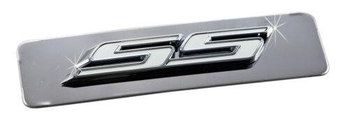 White SS Emblem 2010-2015 Camaro Polished Stainless Engine Plenum Cover Plate