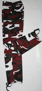 Pantalon-Treillis-BDU-M65-Camouflage-Urban-rouge-T-46