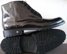 JOOP! Boots Herren Stiefelette Lack Schuhe Echtleder Dunkelbraun Gr.45 NEU