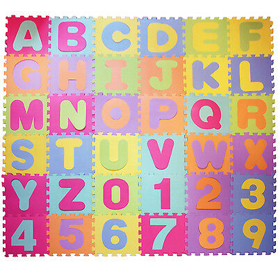 30x30cm Large Foam EVA Floor Mat Jigsaw Tiles Alphabet Numbers Kids child Puzzle