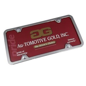 Thin-Chrome-ABS-License-Plate-Frame-4-Holes