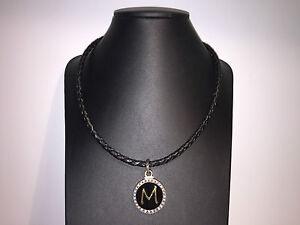 Nuevo-Collar-Necklace-PEKAN-Collar-piel-Plata-Envejecida-oro-Circonitas