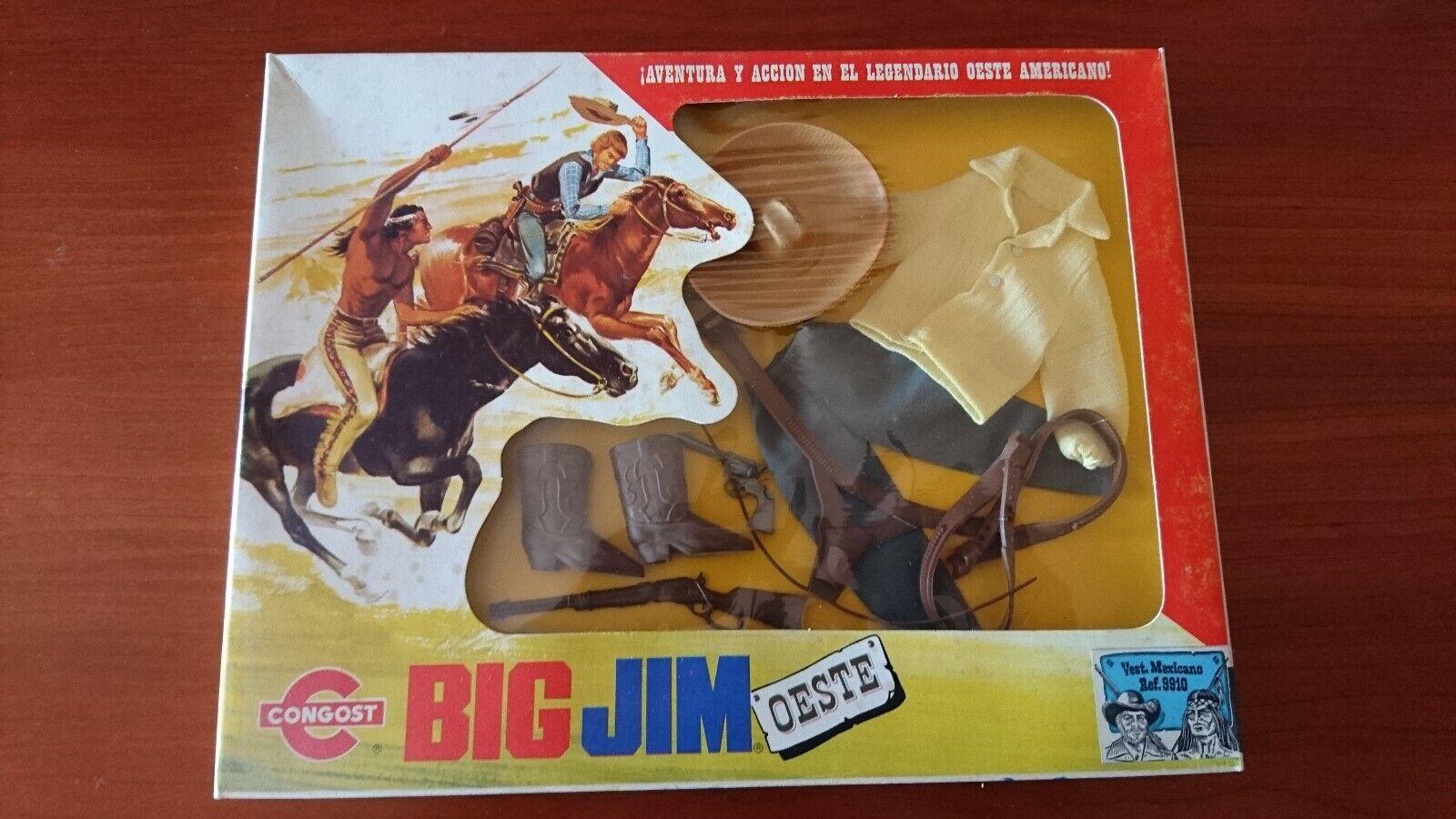 BIG JIM MATTEL CONGOST OESTE VEST. MEXICANO REF. 9910 BELLO E IN OTTIMO STATO..