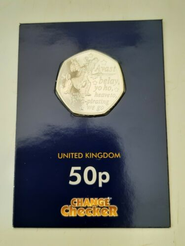 ABUNC 2019 CAPTAIN HOOK IOM 50p Fifty Pence Coin Uncirculated