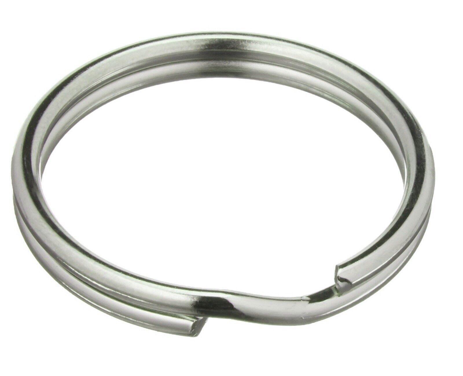 100 Schlüsselringe 25mm FLACH Schlüsselring Design Stahlring Edelstahl Anhänger