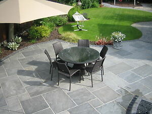 Image Is Loading Natural Stone Patio Paving Silver Mist Quality Sandstone