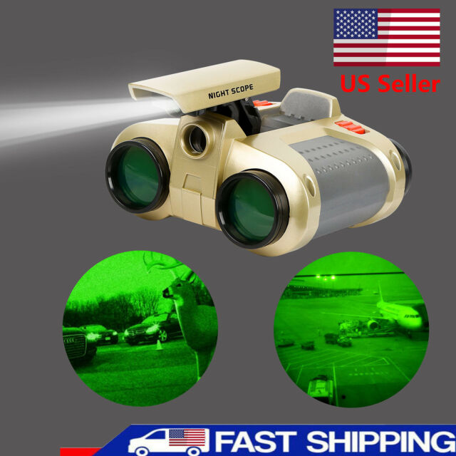 1PC Night Vision Surveillance Scope Binoculars Telescope Light Gift Kids US