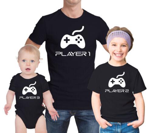 Baby Grow Set Manettes de jeux Lecteur 1 2 3 Gamer père et KID/'S T-shirts