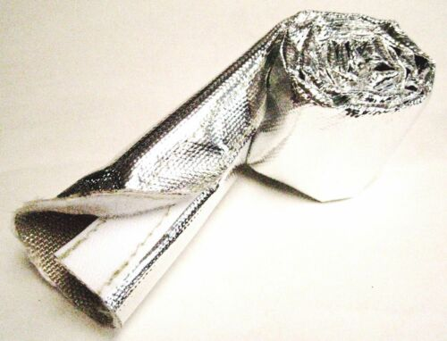 "Aluminized Reflective Mylar Foil Heat Shield Fire Sleeve 1 1//2/""-2/"" OD USA Made"