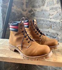 e67919bac Auth Gucci Marland Tan Nubuck Leather Web Plain Toe BOOTS UK 9 US 10 ...