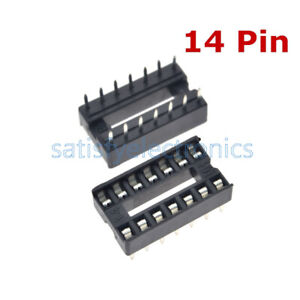 20PCS 14pin DIP IC Socket Adaptor Solder Type Socket Pitch Dual Wipe Contact