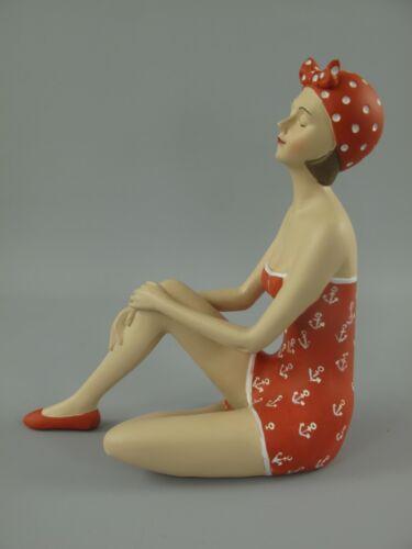 Dekofigur Lady im 50ziger Jahre Style Badepuppe Pin Up Girl Skulptur Maritime